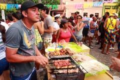Sausage at carnival Stock Image