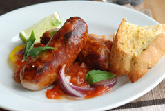 Sausage casserole Royalty Free Stock Photos