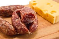 Sausage, Cheese Stock Photos