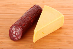 Sausage and cheese Stock Photos