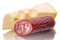 Sausage and cheese Royalty Free Stock Images