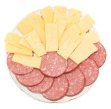 Sausage with cheese royalty free stock images