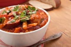 Sausage, Chorizo and Bean Stew Royalty Free Stock Image