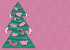 Sausage Christmas tree Royalty Free Stock Photography