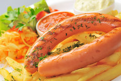 Sausage closeup Stock Photo