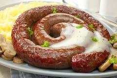 Sausage Coil Stock Image