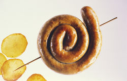 Sausage coil  Stock Photography