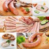 Sausage collage royalty free stock image