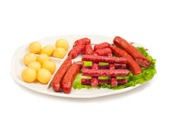 Sausage collection Royalty Free Stock Photo