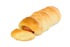 Sausage in the dough Royalty Free Stock Images