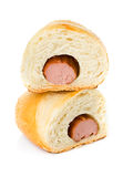 Sausage in the dough Stock Photography