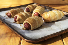 Sausage dough Stock Photo