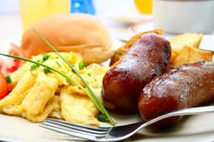 Sausage and Egg Royalty Free Stock Images