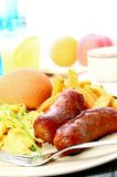 Sausage and Egg Royalty Free Stock Photography