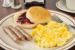 Sausage and egg breakfast Royalty Free Stock Photography