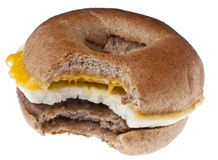 Sausage, Egg and Cheese Breakfast Bagel Stock Image