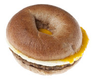 Sausage, Egg and Cheese Breakfast Bagel Royalty Free Stock Image