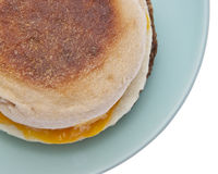 Sausage Egg and Cheese Breakfast Sandwich Royalty Free Stock Photo