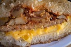 Sausage Egg Sandwich Stock Image