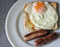 Sausage, Egg and Toast Royalty Free Stock Photos