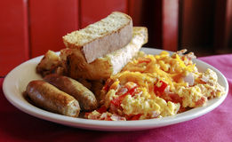 Sausage and eggs Royalty Free Stock Image