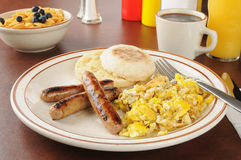 Sausage and eggs Stock Image