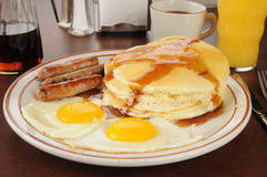 Sausage and eggs Royalty Free Stock Images