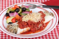 Sausage Enchilada Royalty Free Stock Photography