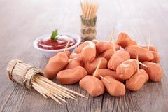 Sausage finger food Stock Photos