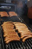 SAUSAGE  FOOD  OR DANISH POLSE Stock Photography
