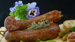 Sausage, Food, Eat, Delicious Stock Photography