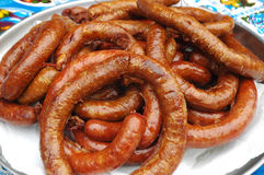 Sausage. The food of northern Thailand Royalty Free Stock Photography