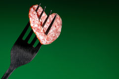 Sausage in the form of heart Royalty Free Stock Photography