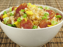 Sausage Fried Rice stock images