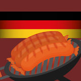 Sausage german food Royalty Free Stock Images