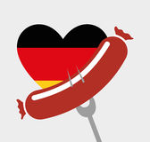 Sausage german food Stock Photo
