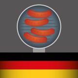 Sausage german food Royalty Free Stock Image