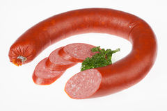 Sausage With Greenery Stock Images