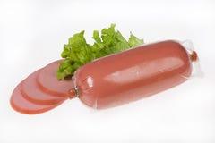 Sausage With Greenery Royalty Free Stock Photos