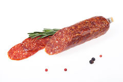 Sausage With Greenery Stock Photography
