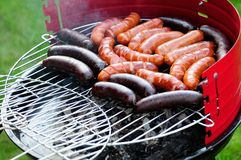 Sausage on grill Stock Photography
