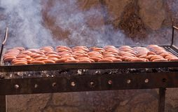 Sausage Grill . Royalty Free Stock Photo
