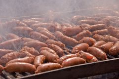 Sausage Grill . Stock Photo
