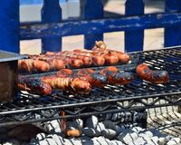 Sausage on the Grill Royalty Free Stock Photo