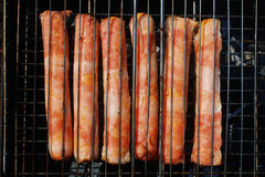 Sausage on the grill Royalty Free Stock Photography