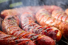 Sausage on the grill Stock Image