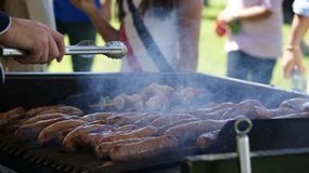 Sausage grill Royalty Free Stock Photography