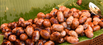 Sausage grill. Thai style food royalty free stock image