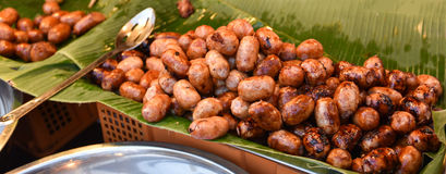 Sausage grill. Thai style food royalty free stock photography
