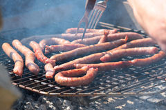 Sausage grilled Stock Images